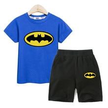 Fashion Kids Outfits Summer Boy Clothing Short Sleeve Tees Cotton Shorts Boys Cartoon Sets Kids Printed Costumes 2PC