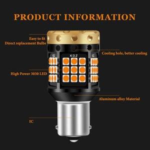 Image 2 - 2xno hyper flash 1156 ba15s p21w bau15s py21w t20 7440 lâmpada transformar a luz do sinal âmbar 12 24v 3030 36/45smd canbus livre de erros leds