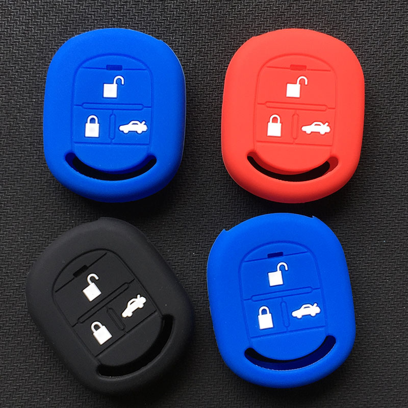 Silicone Car Key Cover Case For Chevrolet Lacetti/Optra/Nubira Vehicle Flip Pocket Alarm 2005 2006 2007 2008 2009