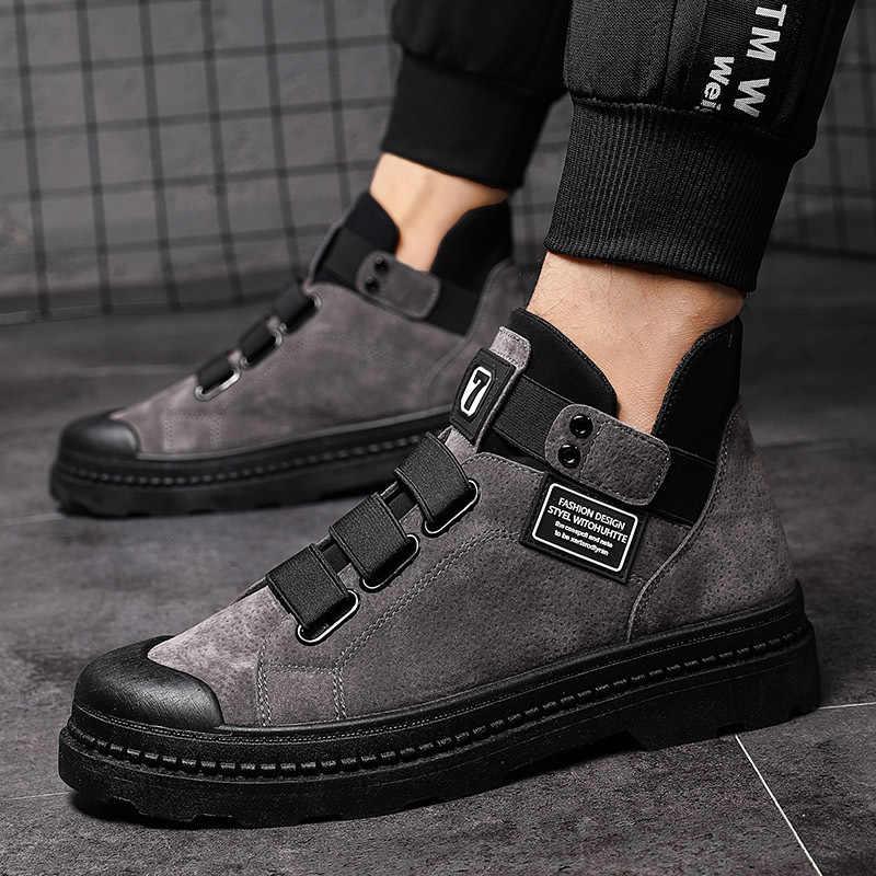 2020 Mode Winter Mannen Laarzen Puleather Mannelijke Waterdichte Schoenen Chaussure Mans Casual Schoenen Voor Mannen Laarzen Schoeisel Mannelijke Sneakers