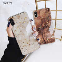For iPhone X XS Max XR Phone Case Luxury Gold Foil Bling Marble For iPhone 7 8 6 6s Plus Glitter Case Soft TPU Cover Coque