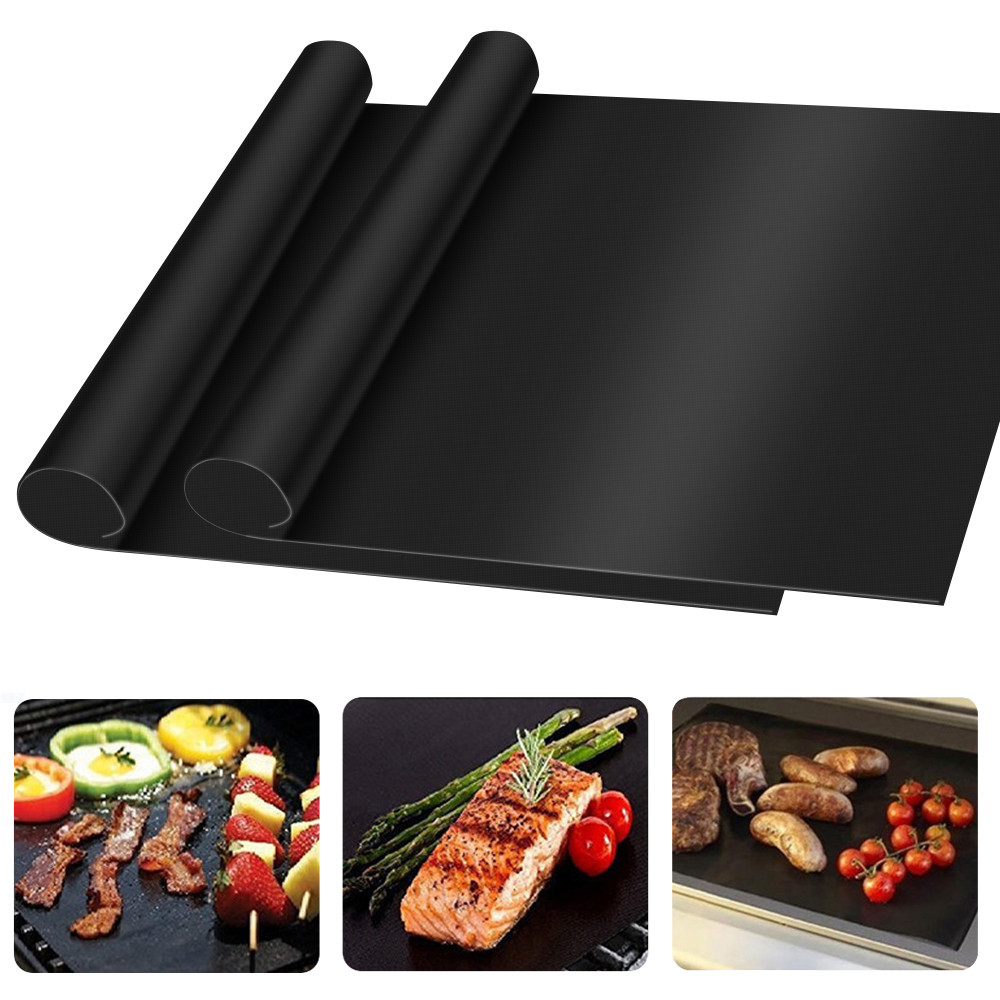 3pcs Reusable BBQ Grill Mat Barbecue Outdoor Baking Non-stick Pad Cooking Plate for Outdoor Party Picnic Grill Mat Tools