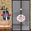 Шторы из полиэстера с защитой от комаров и насекомых, кухонные занавески с автоматическим закрытием дверей, сетчатые, 1 комплект, лето
