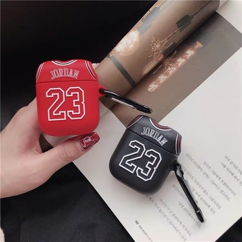 for Airpods pro Silica Bluetooth Earphone Case Chicago Bull 23 Jordan for Apple Airpods 1/2/3 Case Wireless Headphone Set Cover image