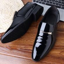 Classic Dress Shoes Men Leather Formal Oxford For Sapato Social Masculino Zapatos De Hombre Vestir Apr17