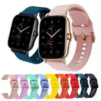 Silicone Wrist Band Strap For Huami Amazfit GTS 2 / Mini Smart Watch Band Sport Bracelet For Xiaomi Amazfit Bip S/U / Pro / GTR 1