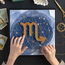 Paintings Wall Decor DIY Crafts for Adults Constellation Nail Wall Painting with Frame Gifts for Boyfriend Manualidades Adultos