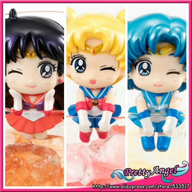 PrettyAngel - Genuine Megahouse Ochatomo Series Pretty Guardian Sailor Moon Limited Set Sailor Moon Mercury Set of 3 PCS 1