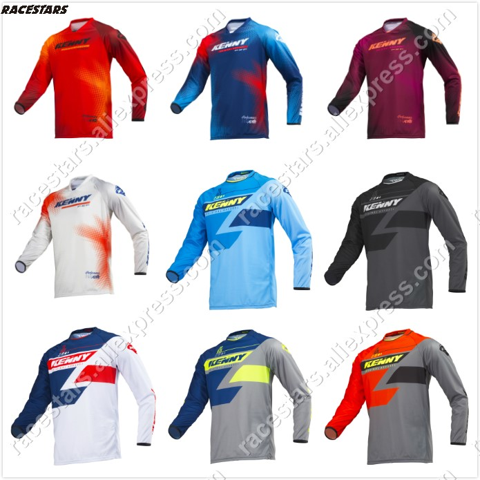 NEW 2019 Quick dry Kenny Moto Jersey MX bike Bike Motocross Jersey BMX DH MTB T Shirt Clothes Long Sleeve MTB Breathable Shirt