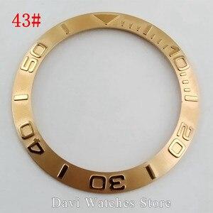 Image 4 - 38 мм черные, серебристые, золотые, керамические/титановые/нержавеющая сталь, Безель вставки для 40 мм parnis автоматические мужские часы