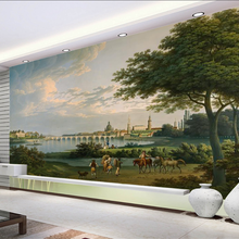 Wallpaper Decoration Custom Background Mural 3D Oil-Painting Cruise Landscape Classical