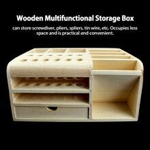 Tweezers-Holder Screwdriver Storage-Box Mobile-Repairing-Tools Multifunctional Wood