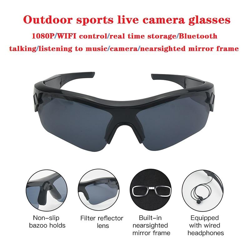 2020 Smart Kamera Sonnenbrille Hören Musik Bluetooth Stimme Gläser Video High End Inteligente Live-Stream Wifi Gläser