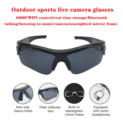 2020 Smart Camera Sunglasses Listening To Music Bluetooth Voice Glasses Video High End Inteligente Live Stream Wifi Glasses