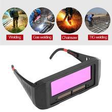 Solar Powered Schweißen Gläser Auto Verdunkelung Schweißen Maske Helm Auge Goggle HVR88