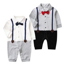Baby Clothing Gentleman Newborn Unisex Rompers Cotton Jumpsuit Spring Autumn 0-24M