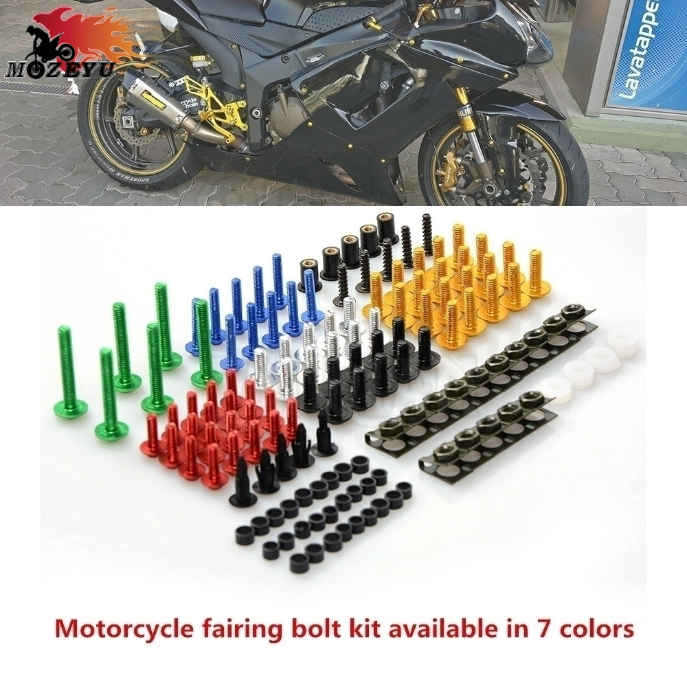 Motorcycle CNC Fairing windshield Body Work Bolts Nuts Screws kit for HONDA <font><b>VFR</b></font> <font><b>VFR</b></font> <font><b>750</b></font> <font><b>VFR</b></font> 800 800X 800F 1200X <font><b>VFR</b></font> 1200F image