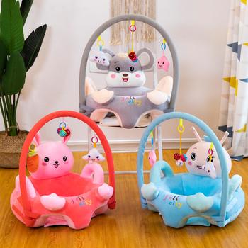 Dziecko pluszowe krzesło 8 stylów foteliki dziecięce Sofa łożysko nauka siedzenia miękki pluszowy lalki podróży cartoon siedzenia bez wypełniaczy tanie i dobre opinie Unisex Other CN (pochodzenie) 13-24m 25-36m Chair