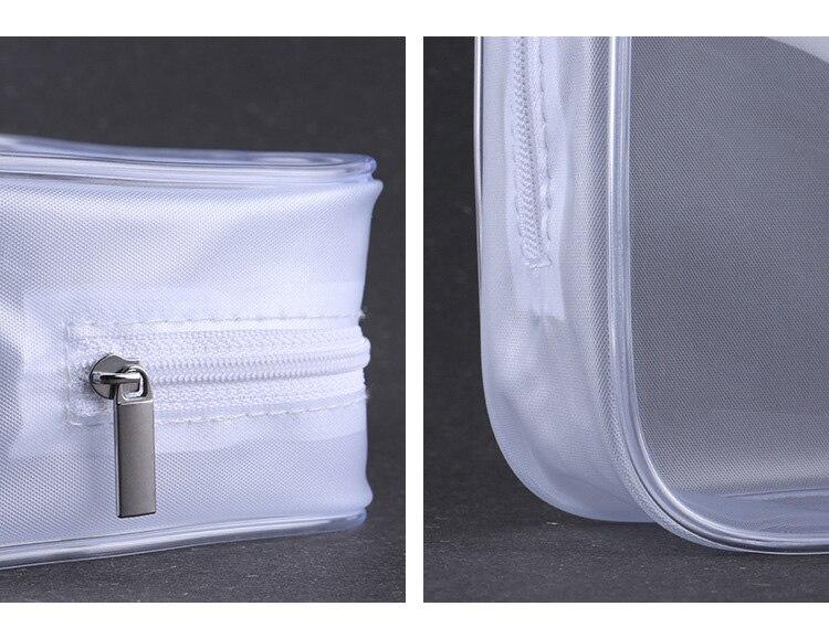 Grande capacidade pvc saco de cosméticos saco