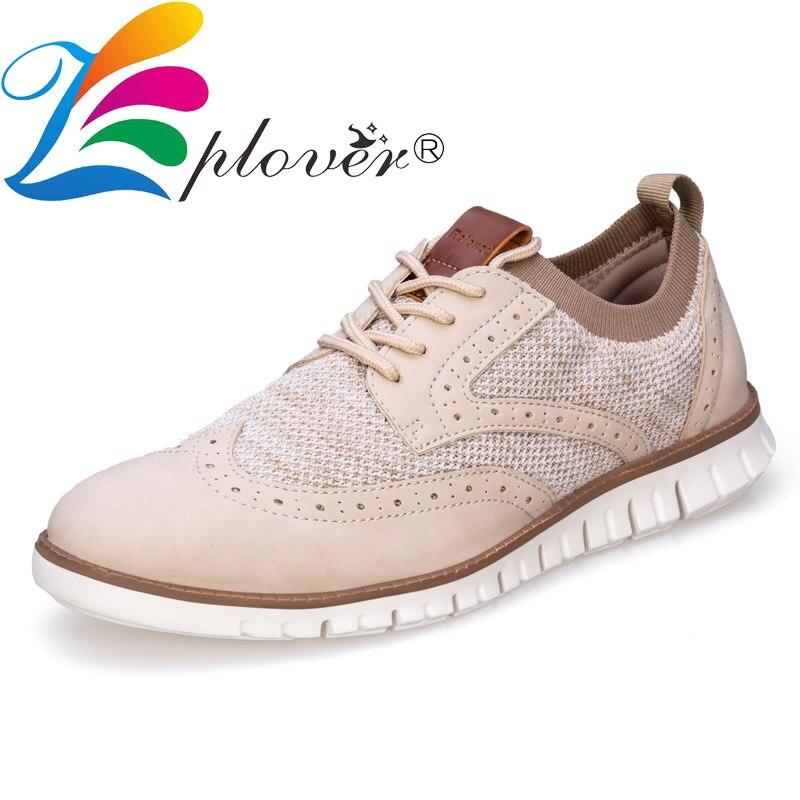 Fashion Brogue Men Shoes Casual Breathable Leather Shoes Men Flats Comfortable Mocassin Homme Male Dress Shoes Big Size 40-46