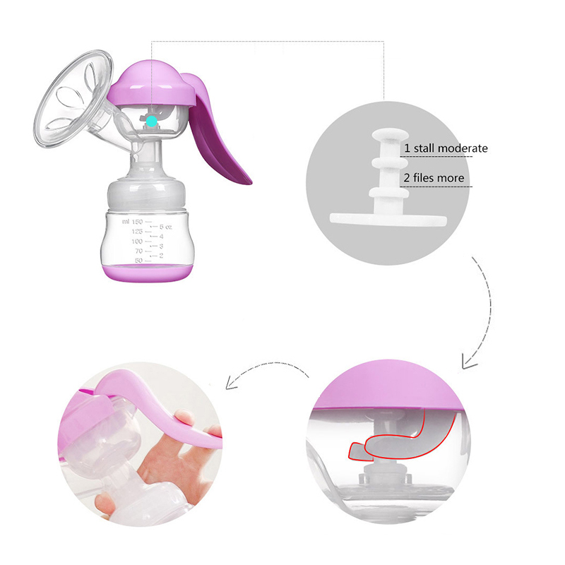 MMloveBB Manual Breast Pump Powerful Sucker Milk Extractor Baby Bottle For Breast Feeding Pulls Nipple Milk Pump