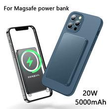 15w magsafing magnético power bank carregador sem fio para iphone 12 pro max mini pd qc 20w rápido carregamento sem fio magsafe powerbank