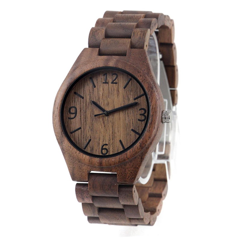 Dropshipping Latest Trend Design Cheap Private Label Natural Full Wood Mens Walnut Couple Watch For Women