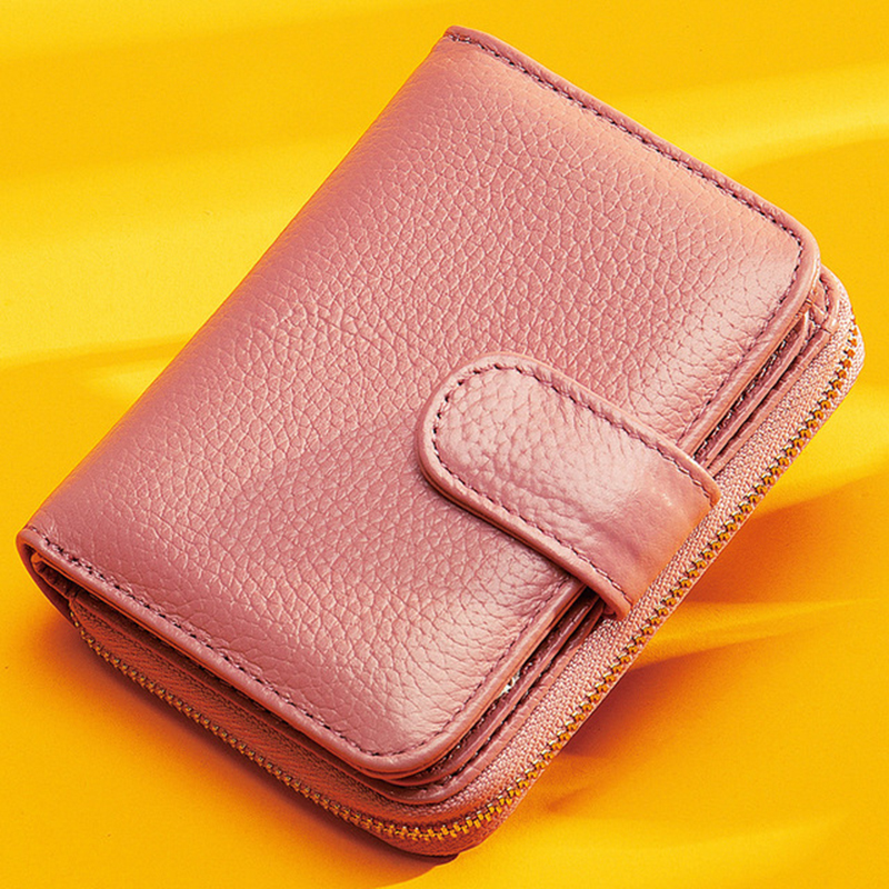 New Fashion Women Wallet Long Clutch Bags Small Coin Purse Zipper Genuine Leather Female Card Holder Womens Wallets And Purses