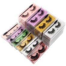 Hurtownie rzęsy 20/30/40/150 sztuk puszyste 3d rzęsy z norek makijaż naturalny sztuczne rzęsy Flase rzęsy zestaw z szczotki kosmetyczne