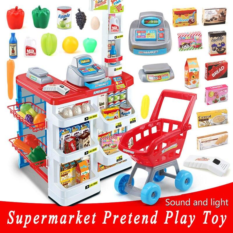 Новинка, большой размер, кухонный набор, 82 см, высота, пластик, ролевые игры, игрушка со светом, дети, кухня, готовка, супермаркет, игра, еда, ко