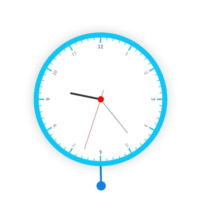 圆形的摇摆时钟CSS3特效