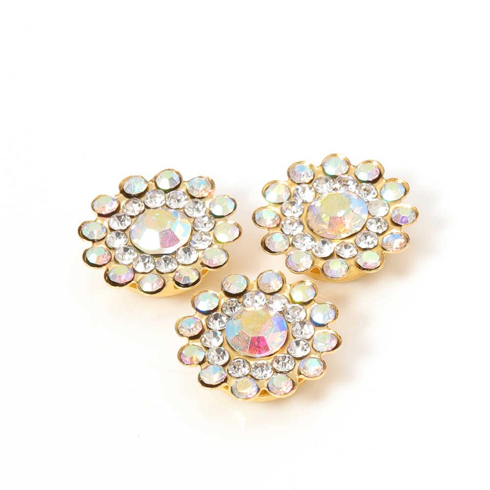 50pcs 14 millimetri Rhinestone multicolore Cabochons Perline di cristallo Lunetta Patch fai da te cucito a mano piega gli accessori per monili che fanno