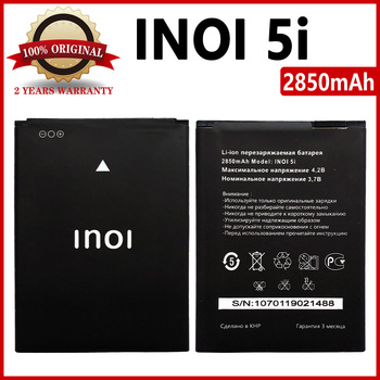 100% Original 2850mAh inoi 5i Battery For INOI 5I Lite INOI5 INOI 5 Lite Mobile Phone High Quality Battery смартфон inoi 1 lite gold