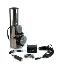 Wholesale universal 3.0 inch straight exhaust cutout stainless steel electric exhaust cut out with remote control 2 02 252 53 0 exhaust system b cut pipe exhaust cutout with remote control electric cut out with remote control