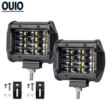 1pc/4pcs Offroad LED Light Bar 4-rows 36W 4