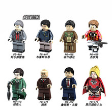 PG8119 Building Blocks Super Heroes Riddler Alfred Fishmony Hugo Strange Jerome Joker Bruce Wayne Plastic Children Gift Toys