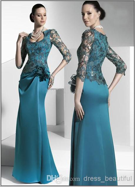 vestido de festa longo 2018 sexy lace sleeves long formal gown party evening elegant women flower mother of the bride dresses