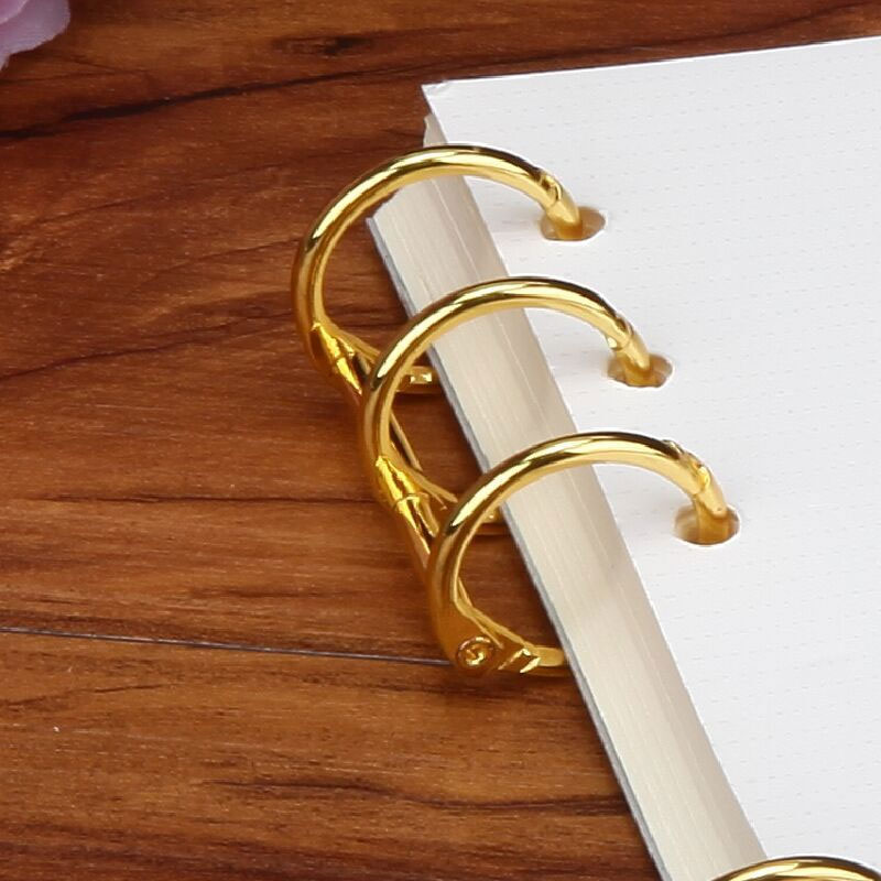 2Pcs Metal Loose Leaf Book Binder Rings Notebook Album Scrapbook Clips Binder A4 Stationery Binding Machine Office Supply