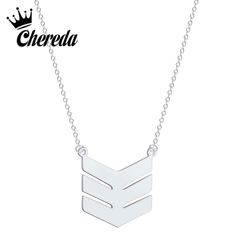 Chereda Simple Triple Chevron Necklace for Women Golden Dainty Layering Minimalist Pendant Wedding Gifts