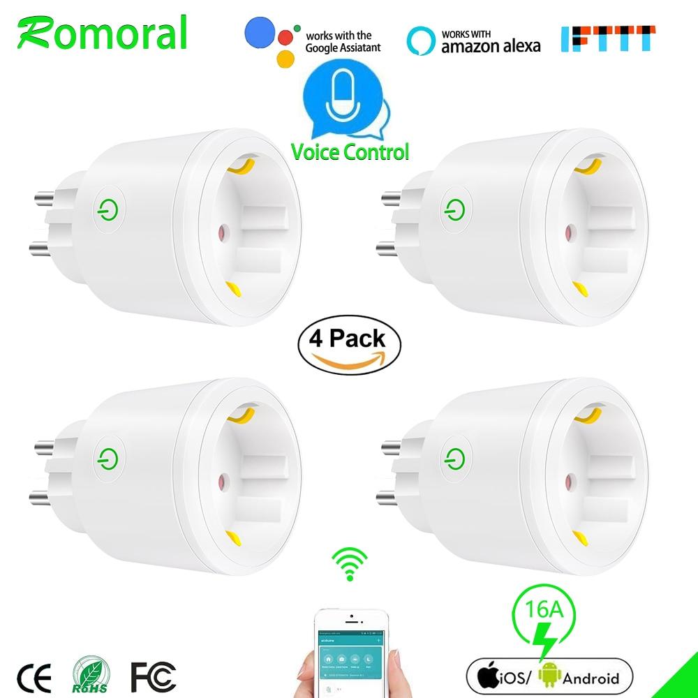 Smart Plug 16A Wifi Smart Socket Tuya Smart Life App EU Wifi Plug Work with Alexa Google Home