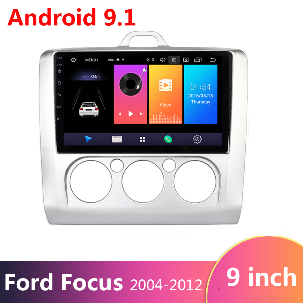 9 inch <font><b>2</b></font> <font><b>Din</b></font> Android 9.0 Auto Radio Multimedia Video-Player für <font><b>Ford</b></font> <font><b>Focus</b></font> 2004-2011 WIFI BT GPS Navigation quad Core Karte FM RDS image