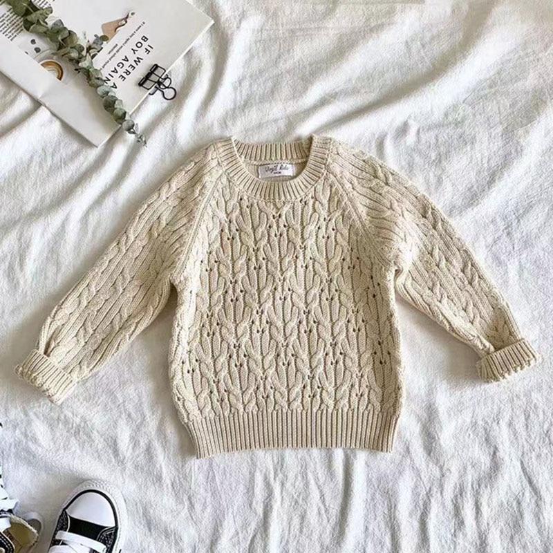 Autumn Winter Baby Kids Boys Long Sleeve Knit Sweater Baby Kids Boys Pure Color Pullover Sweaters Children's Clothes 3