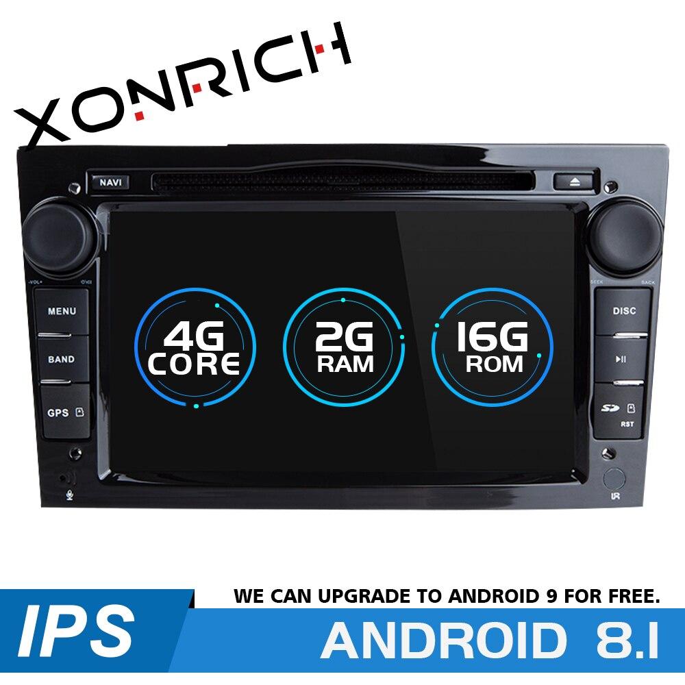 2 Din Android 8,1 автомобильный dvd плеер для Opel Vectra C Zafira B Corsa D C Astra H G J Meriva Vivaro Мультимедиа gps навигация радио