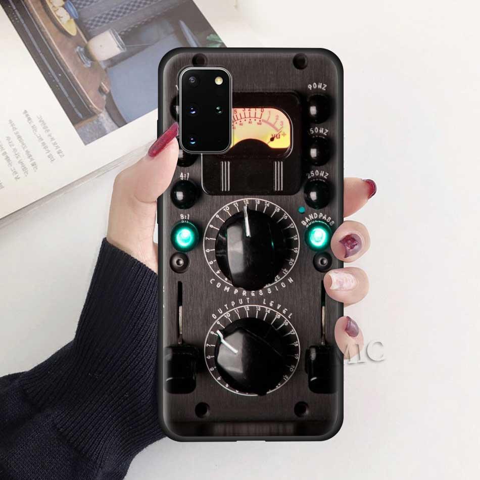 Camera Battery Calculator Case For Samsung Galaxy S20 Ultra 5G S10 Lite S10e S9 S8 Note 8 9 10 Plus Black Soft Phone Cover Sac