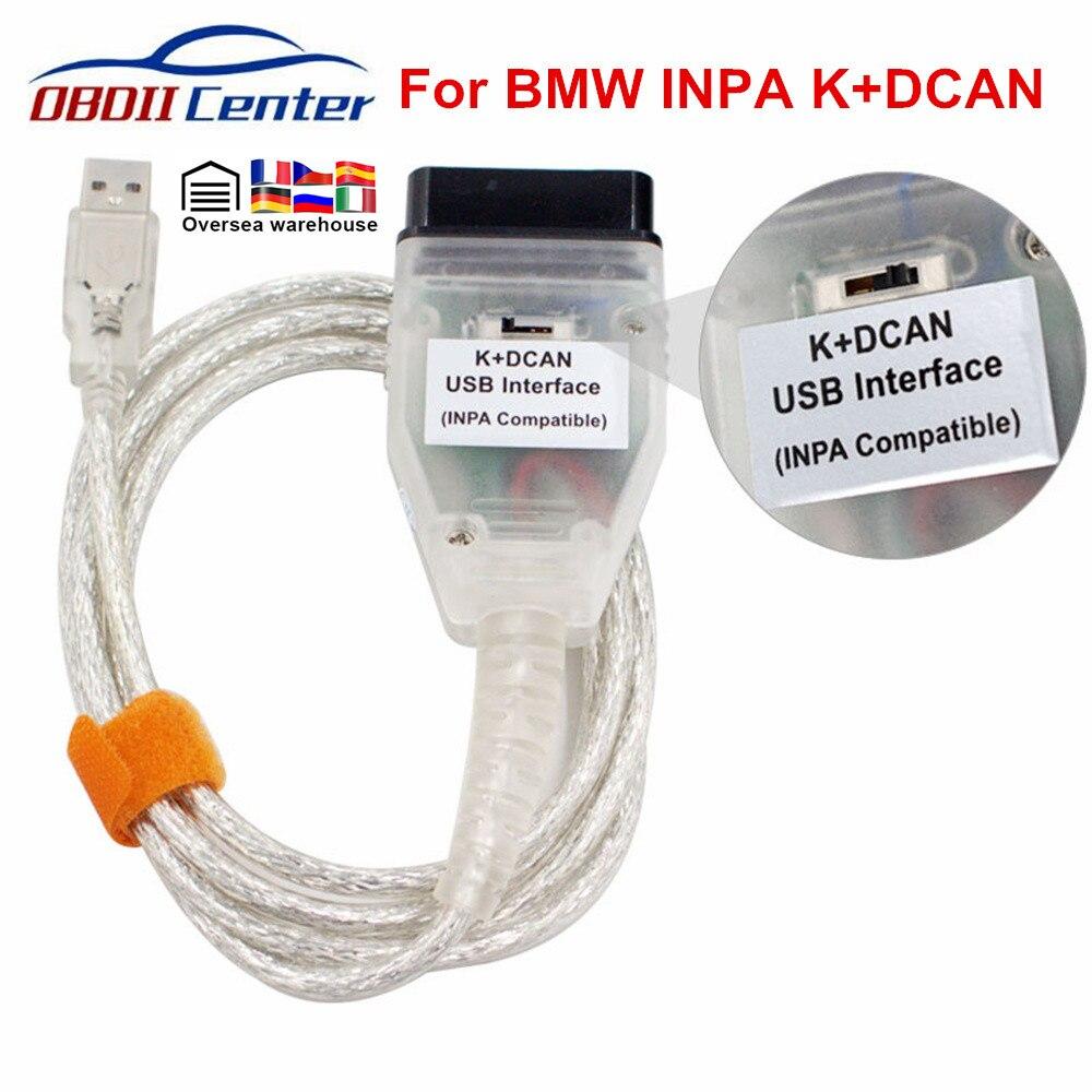 Диагностический сканер OBDII для BMW INPA K DCAN, интерфейсы INPA K + DCAN USB, INPA Ediabas K D CAN OBD2, FT232RL