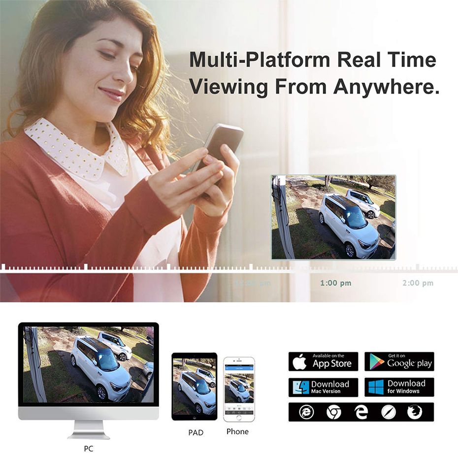 Hikvision compatível 4 k poe câmera ip
