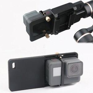 Image 2 - Handheld Gimbal Adapter Schalter Platte Montieren für GoPro Hero 7 6 5 Yi 4k Feiyu Zhiyun Stabilisator DJI Osmo action Zubehör Set