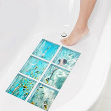 Funlife 3D Bathtub Stickers for Kids Shower,Non-slip Waterproof Self-adhesive Tub Decals,The underwater world Wall Sticker Floor free shipping beauty diving dolphin underwater world floor wallpaper porch hotel waterproof self adhesive non slip floor mural