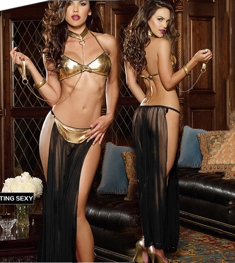 Hot Sale New European Style Sexy Quality Assurance Patent Leather Mesh Gauze Perspective Sexy Lingerie Set Red Purple Black