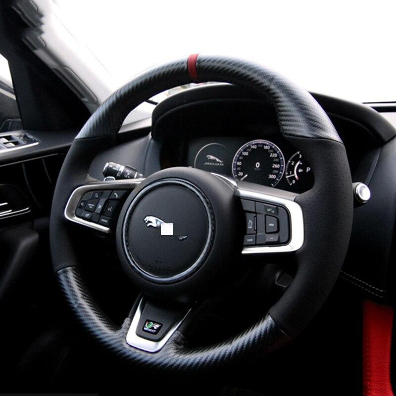Housse de volant de voiture en cuir à coudre à la main pour Jaguar F-PACE E-PACE XE XF XEL XFL accessoires de style de voiture décoration intérieure